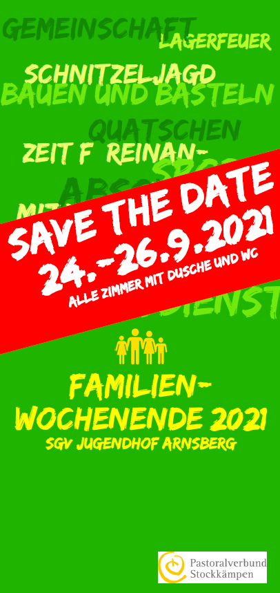 Familienwochenende Save the date
